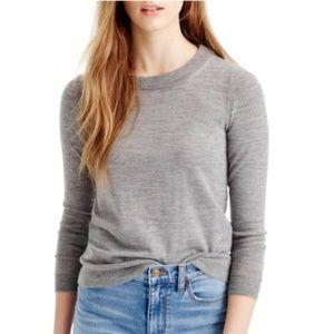 J. Crew Merino Wool Tippi Sweater in Heather Gray
